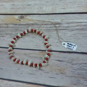 NWT Bracelet Bamboo Coral & Shells